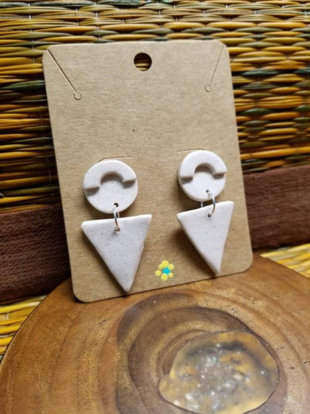 Abstract Clay Earrings