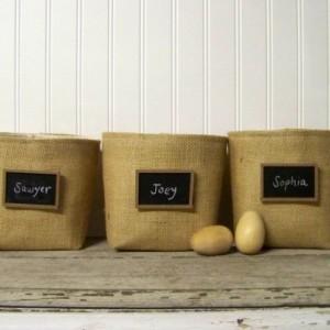 Chalkboard Basket