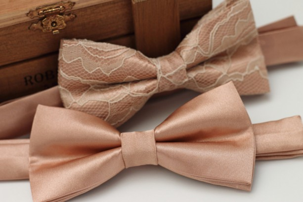 Rose Gold Bow Tie For Weddings And Special Events Aftcra