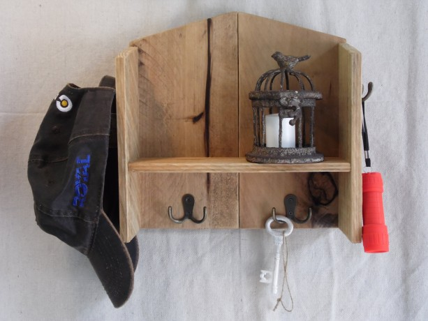 Pallet Key Hook Shelf Wood Holder Rustic Home Decor