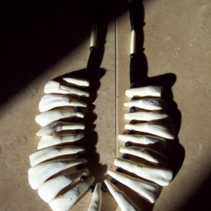 Native American Made Buffalo tooth necklace