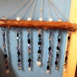 Sun Catcher hanging glass beads, wedding gift, garden art, gift for an occasion