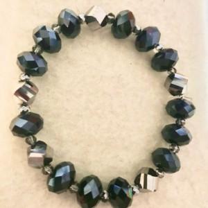 """Mrs. Brisby's Sparkles handmade beaded bracelet 7.5"""" long"""