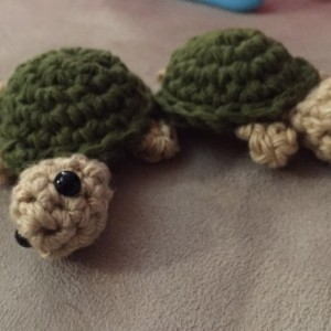 Crochet Key-chain ornament sea turtles set of 2