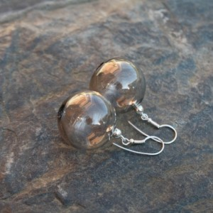 Blown Glass Earrings - Transparent - Lightweight