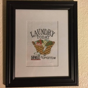 Laundry Today wall decor