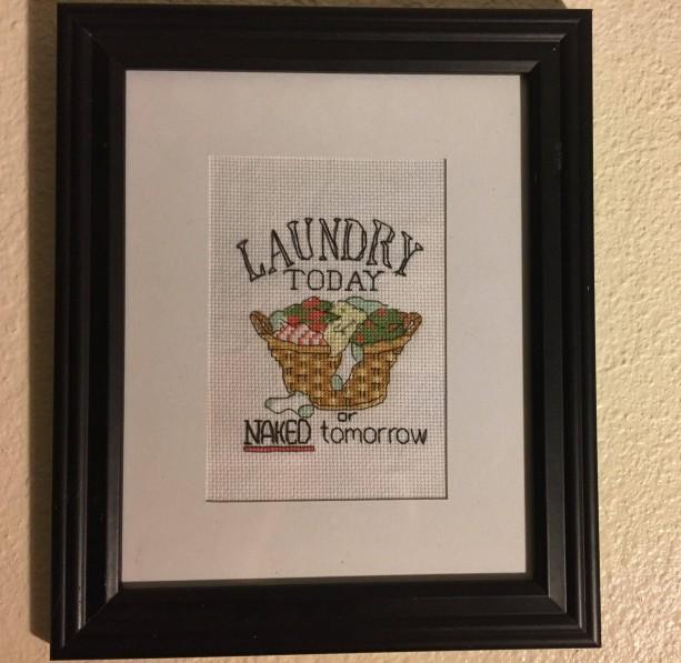 Laundry Today wall decor