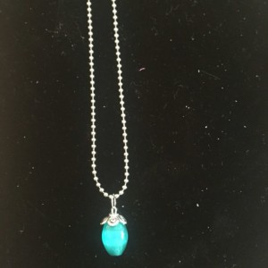 Glass pendant with ball chain