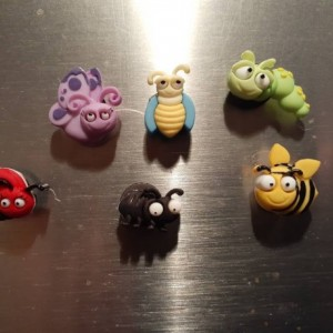 Magnets, 6 Strong Refrigerator Magnets, Cubicle Decor, Locker Magnets, Office Supply,Bug,Bugs,Insect