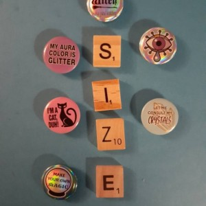 Magnets, 6 Strong Refrigerator Magnets, Cubicle Decor, Locker Magnets, Office Supply,Ora,Magic,Witch