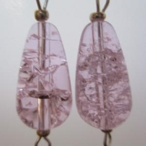 Pink Persuasion Cracked Quartz Crystal Pierced Earrings