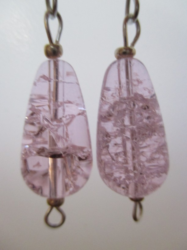 Pink Persuasion Cracked Quartz Crystal Pierced Earrings