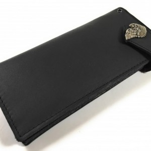Mens Black US Military Deluxe Bifold Wallet,Genuine Leather,Marines,USA,Leather Bifold Wallet,Bifold Wallet Leather,Bifold Wallet with Snaps