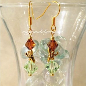 Simply Elegant Dragonfly Crystal Earrings