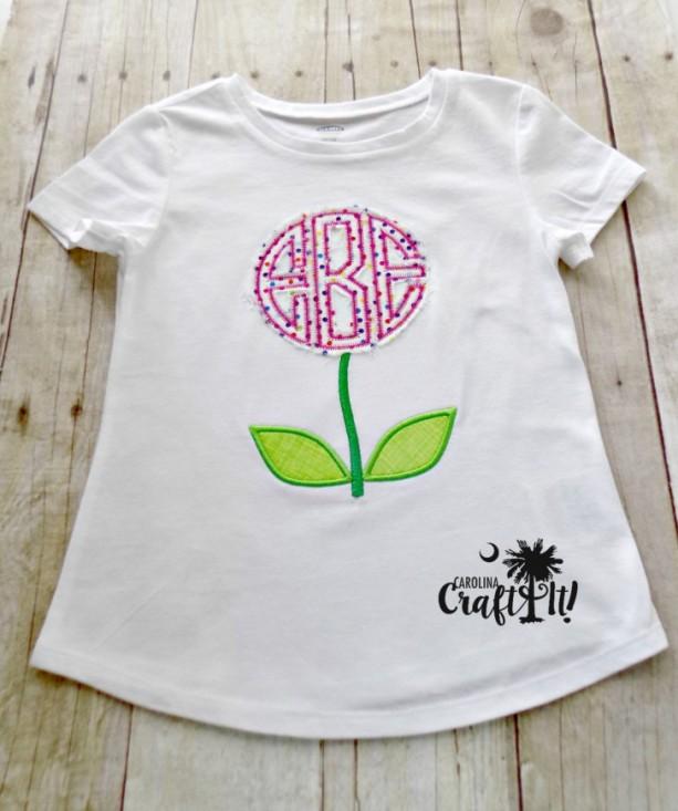 b5c8d574 Monogrammed Tshirt, Toddlers Monogrammed Tshirt, Infants Monogrammed  Bodysuit, Flower Monogram, Girls.