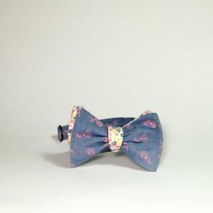 reversible bow tie self tie bow tie reversible bowtie self tie bowtie magnet bow tie pink floral tie tie self tie blue bow tie magnet clasp