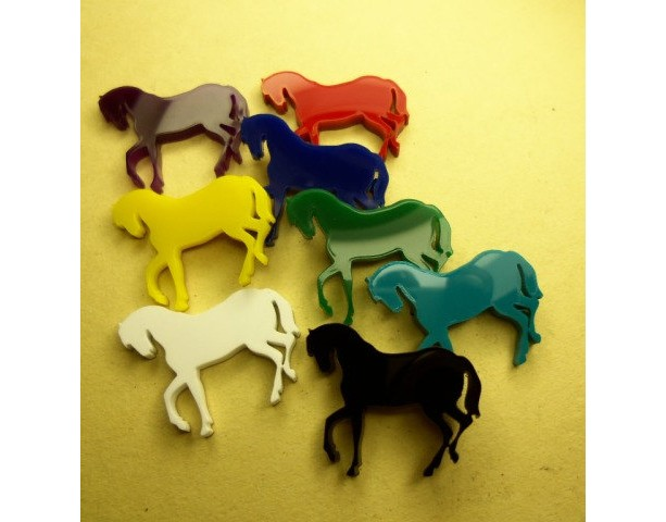 horse charms,laser cut charms,HOLOGRAPHIC