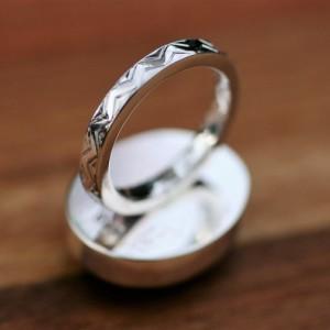 Natural & Lovely Labradorite Solid Sterling Silver Ring / Finger Size 4 3/4