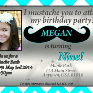 Mustache Birthday Invitation, Mustache, Invitations, Birthday