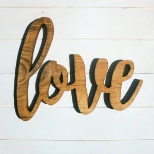 3D Love Wood Cutout