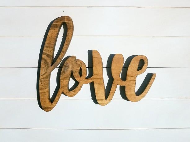 3D Love Wood Cutout