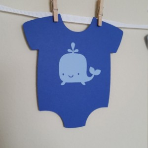 Whale Onesies, Whale Baby Shower, It's a Boy, Onesies, Onesie Banner