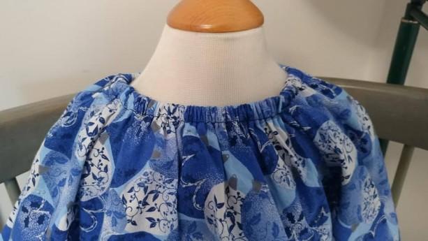 Blue Christmas Peasent Dress