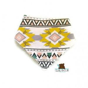 2t-4t-Pastel Aztec Print Set- Aztec Print Skirt-Toddler Skort- Toddler Bibdana- Toddler Bib- Toddler Drool Bib- Easter Toddler Outfit