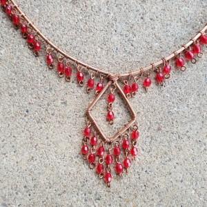 Boho Red Diamond
