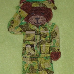 Military Fleece Baby Blanket
