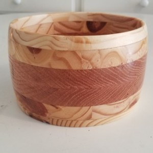 spruce and oak segmented bowl