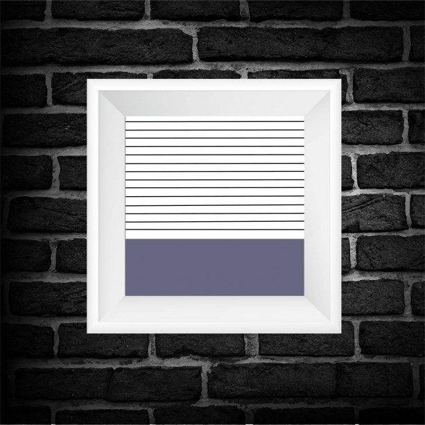 Purple Color Block Print - Square