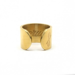 PRUDE RING: MATTE 18-KARAT GOLD