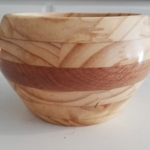 spruce and oak segmented pot