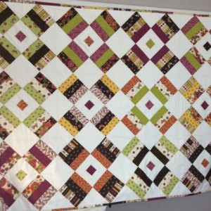 Handmade Modern Quilt - Butterflies and Flowers