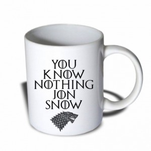 You Know Nothing Jon Snow Mug 11 oz Ceramic Mug Coffee Mug
