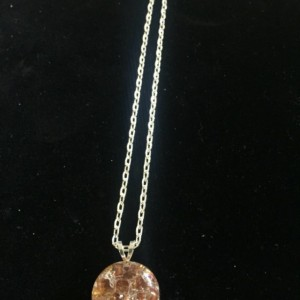 Cracked marble pendant and chain