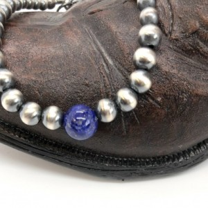 Navajo Pearls and Lapis Lazuli Beaded Bracelet