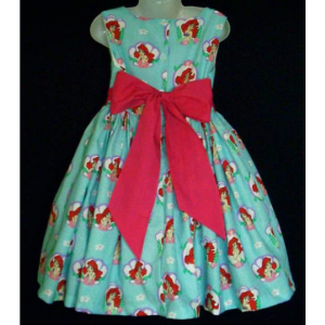 NEW Handmade Disney Ariel Little Mermaid Cameo Dress Custom Sz 12M-14Yrs