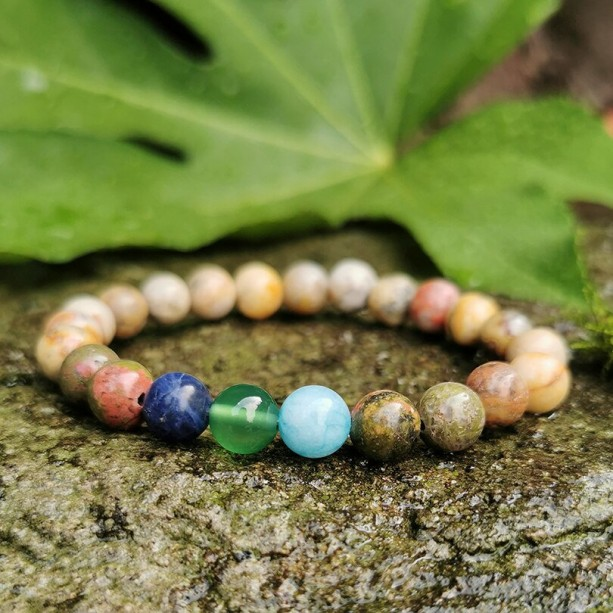 Energy Bracelet Crystal Bracelet, Energy Stress Anxiety Stone Bracelets, Natural Gemstone Crystal Jewelry