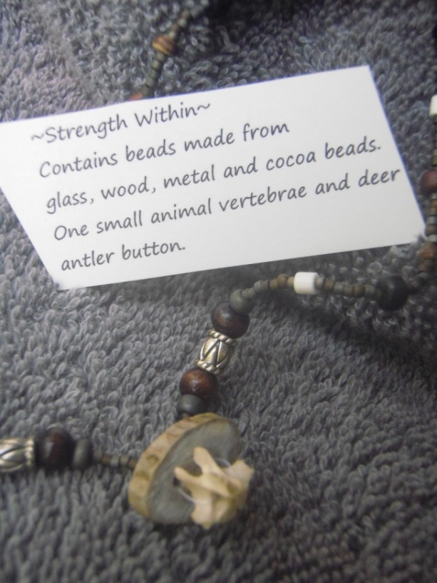 "Bone Vertebrae Necklace ""Strength Within"""