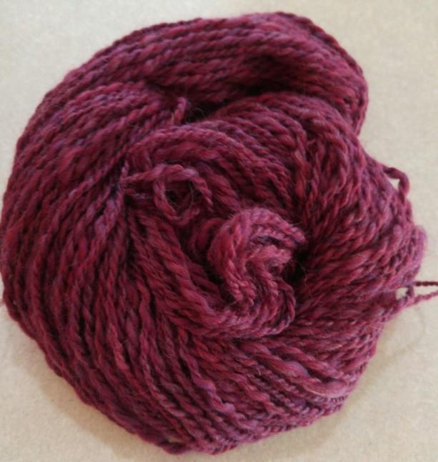Handspun yarn-hand dyed yarn-wool-art yarn-130 yds-super soft yarn-wool yarn-knitting-crochet-felting-knitting supplies