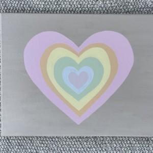 Pastel Rainbow Heart