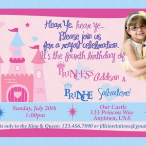 Princess/Prince Birthday Invitation, Invitations, Princess, Birthday, Party Supplies