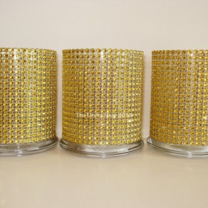 Glass Cylinder Vases, Gold Bling Wedding 50th Anniversary Cocktail Hour Centerpieces, Bling Candle Holders, Shower Holiday Party Vases, 4 PC