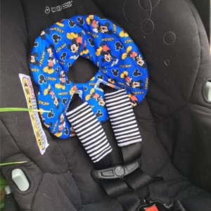 Car Seat Head Support for Newborns, Infant Car Seat Strap Covers, Car Seat Insert, Arm Pad Set