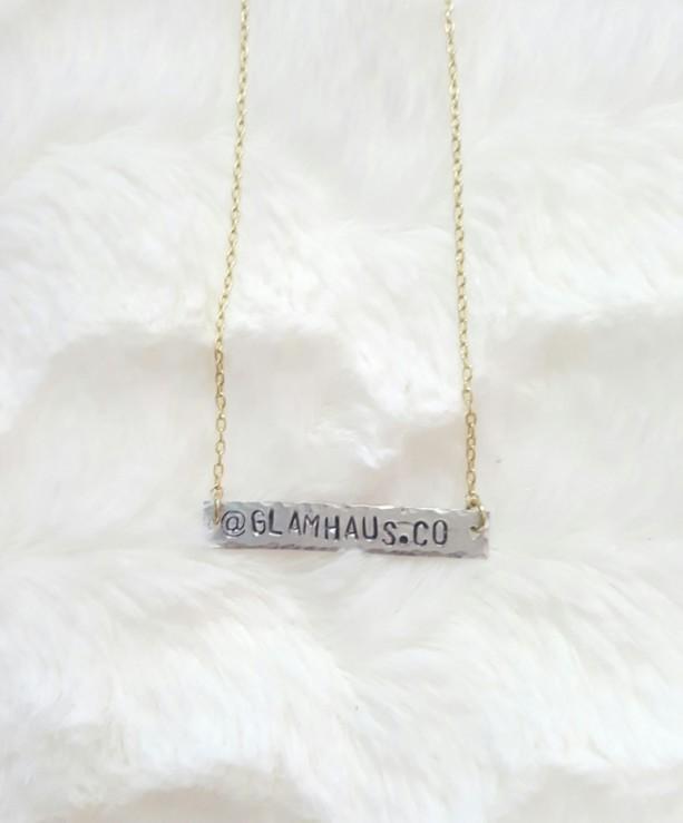 Mixed Metals Bar Necklace