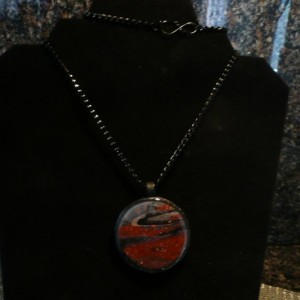 Handcrafted  Unique Faux Goldstone Pendant #255