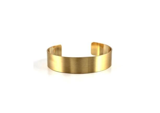 Brushed Gold Metal Open Cuff Bracelet