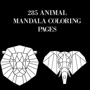 285 Animal Mandala Coloring Pages